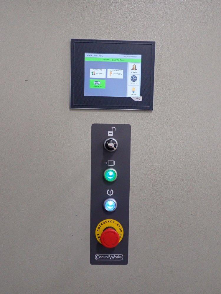 HMI connected to PLC for machine controls & diagnostics