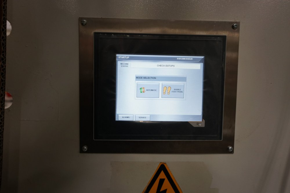 Panel door touch screen