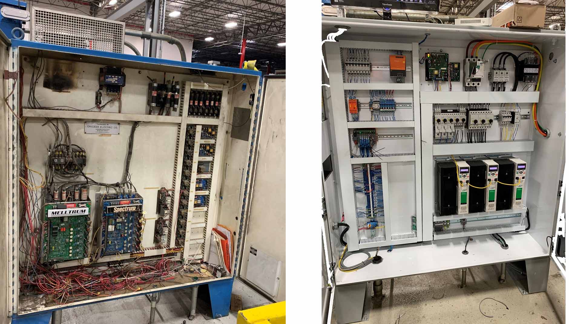 Coil Slitting Control Panel Before And After Control Works Control Panels Press Brakes Design Repairs Maintenance Retrofit Products Services Software Training